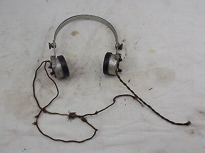 Pair of Sterling headphones, c 1920s  MK3 2000 ohm Crystal Radio Set