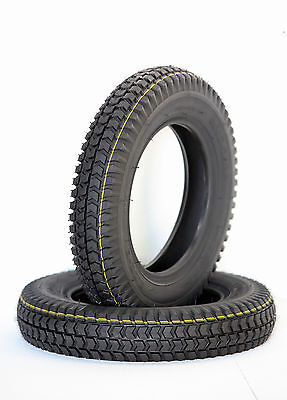 Pair 300x8 Black Block Tread Mobility Scooter Tyre 3.00-8 Powerchair & Cordoba
