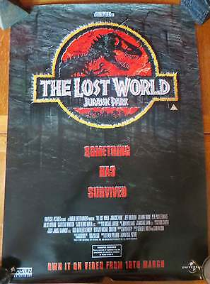 Jurassic Park The Lost World - Rare Video Promo Poster 1997