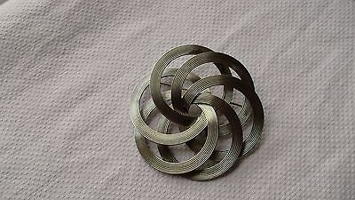 Huge Silver Tone Vintage Style Decorative Costume Brooch/pin
