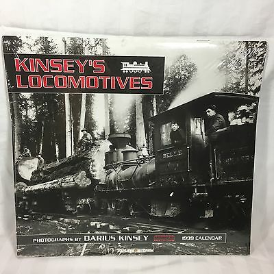 1999 Locomotive Photo Calendar by  Darius Kinsey Photographer Train Memorabilia