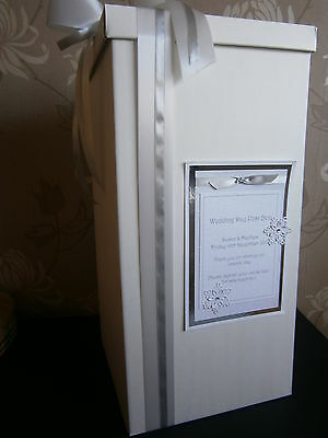 Christening post box, Wishing well, Wedding cards, personalised and ribbon inc