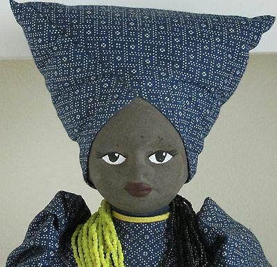 """VINTAGE 17"""" SOUTH AFRICAN TRIBAL DOLL-PEDI TRIBE (Ethnic-National Costume Doll)"""