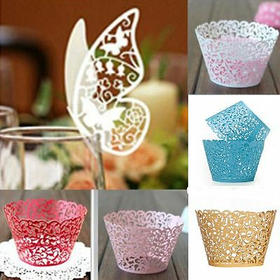 Hollow Birthday Chic Decoration Baby Shower Wrappers Cupcake Filigree Cases