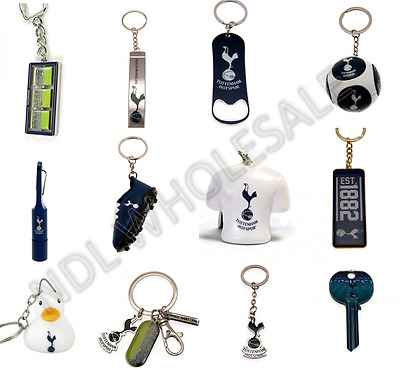 Tottenham FC Keyring Badge Bag Charm Door Key Bottle Opener Torch Leather Gift