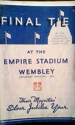 Sheffield Wednesday V West Brom 27/4/1935 Fa Cup Final Reprint