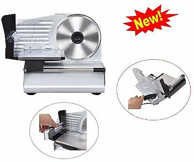 "Electric Meat Food Slicer Commercial Cheese Deli Cutter Kitchen Home 7.5"" Blade"