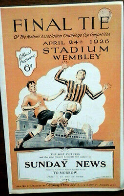 Bolton V Man City 24/4/1926 Fa Cup Final Reprint
