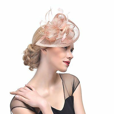 VGLOOK Ladies Mesh Feather Fascinator Hat For Tea Party /Church Party/Cocktail