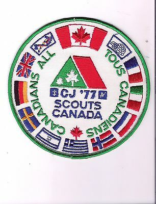 CJ18) Scouts Canada - Canadian Jamboree CJ 1977 All country Flags
