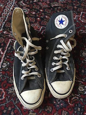 70s Vintage Converse Size 8.5 Made In USA Chuck Taylor Black Hi Top All Star