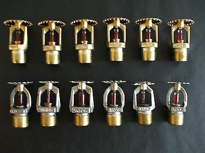 Lot of 12 Brass Fire Sprinkler Heads Used Rasco and more