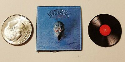 "Miniature record Album Barbie  1/12  1""  Dollhouse Music Eagles Greatest Hits"