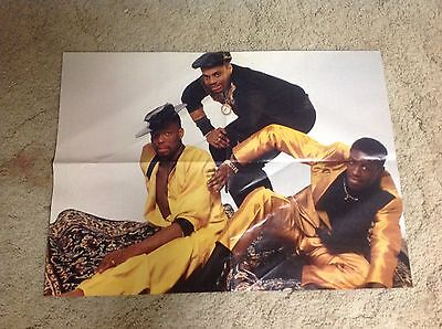 Rare! 1980s 21x16. 2-sided poster WHODINI jazzy jeff fresh prince     .