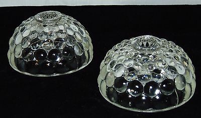 "Anchor Hocking BUBBLE CRYSTAL *2"" CANDLESTICKS* PAIR*"