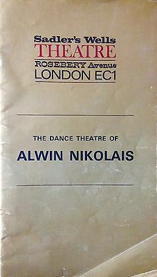 The Dance Theatre Of Alwin Nikolas: Sadler's Wells Theatre - 1971