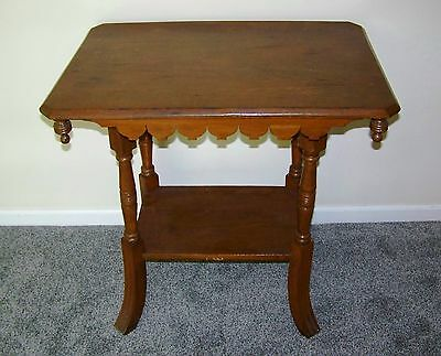 Antique Victorian Eastlake Carved Parlor / Side Table