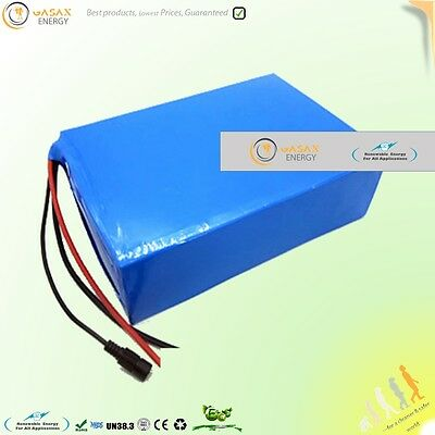 36V 20Ah Battery Pack li-ion lithium 20 AH 1000W electric bike scooter solar eco