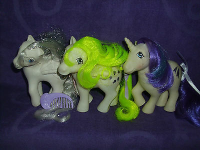 My Little Pony G1 Pony Lot with Princess Tiffany, Surprise and Glory