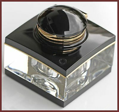 Montblanc Meisterstuck Black Gold Plated Rings Crystal Inkwell/pipette/