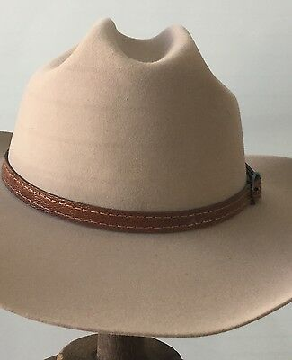 Stetson Marshall  collection size 60 cm 100%  wool USA made Western Ostrich band