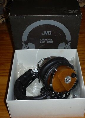 Vintage JVC Model HP-20 stereo Headphones in original box