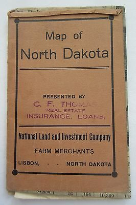 1909 Map North Dakota National Land & Investment Co + Great Northern Railway