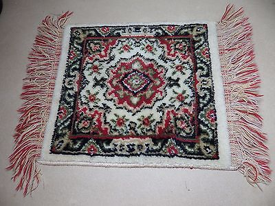 Wool Vintage Rug Mat Persia/Turkey Woven Small Accent Decorative Nice Quality