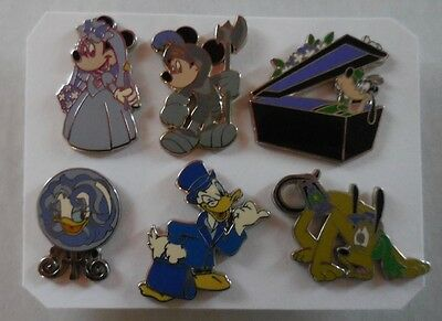Disney Pin DLR GWP Disneyland The Haunted Mansion Collection 2009 Set Of 6