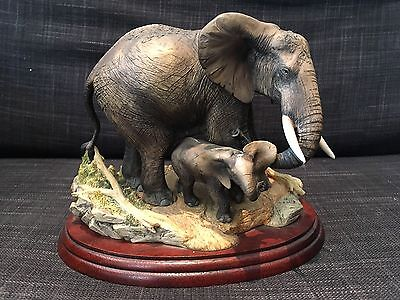 Rare Border Fine Arts Mothers Care Elephant Limited Edition 1996 Bfa B0003