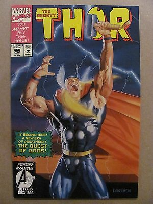 Thor #460 Marvel Comics 1966 Series Jim Starlin 9.2 Near Mint-