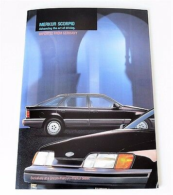 1987 MERKUR SCORPIO DELUXE SALES BROCHURE ~ 8.5 by 12 INCHES ~ 32 PAGES
