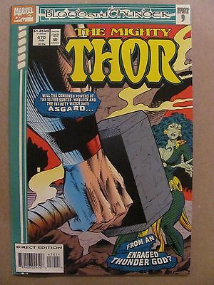 Thor #470 Marvel Comics 1966 Series Blood & Thunder Part 9 Thanos app 9.2 NM-