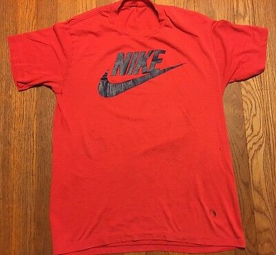 Vintage 80's Nike Blue Tag T Shirt Well Worn Soft Thin Rare Burnout Potential!