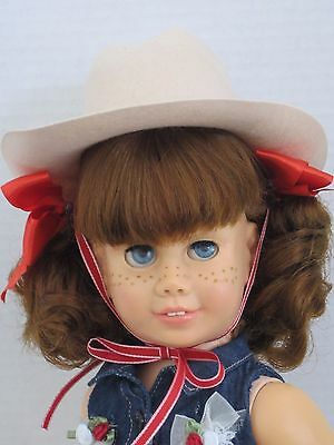 CHATTY CATHY Auburn Pigtail WESTERN TUTU TOP and HAT BOOTS TALKS FREE SHIPPING