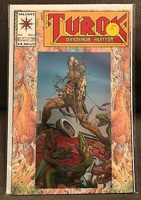Turok Dinosaur Hunter 1 VF JULY 1993 Valiant Comics Bart Sears Chromium