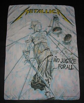 Vintage 1998 METALLICA Justice For All SCARF Tapestry Poster Wall Flag Banner