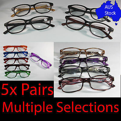 Mens Ladies Reading Glasses 5Pairs Spectacle Specs Ana-Frank Latest Frame Design