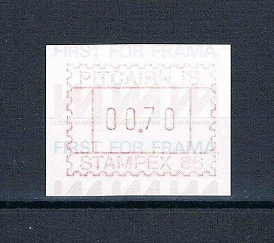 Pitcairn Is - 1986 - Stampex Meter - First for Frama -- MNH17cf