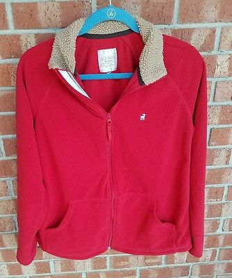 Old Navy maternity performance lightweight fleece zip jacket size small (S) red