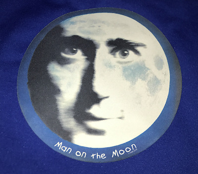 """RARE vintage 1999 Andy Kaufman Man on the Moon PROMO MOUSE PAD 10"""" mat"""