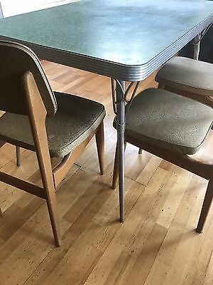 Retro Laminate Dining Table and Chairs