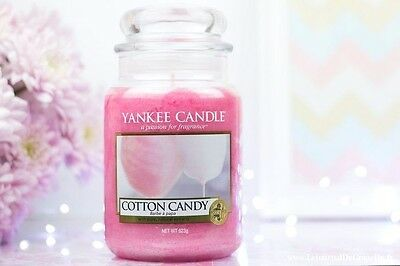 ☆☆Cotton Candy☆☆ Large Yankee Candle Jar☆ Free Shipping-- Super Rare Scent