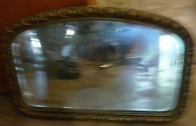 Antique mirror  with wood and plaster frame