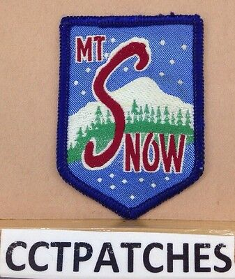 Mt Snow Vermont Ski Travel Souvenir Patch