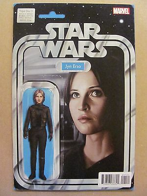 Star Wars Rogue One #1 Marvel 2017 Series Jyn Erso Action Figure Variant 9.6 NM+