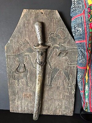 Old Carved Wooden Javanese Kris Board / Stand …beautiful collection piece