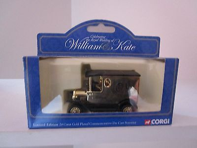 Corgi Gold Plated Model T Ford William and Kate's Wedding