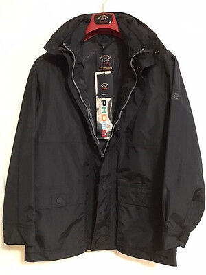 NEW Paul & Shark Man Uomo Giacca Jacket Typhoon 20000 S M L   BLACK