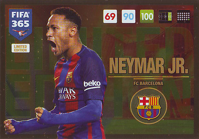 Panini Adrenalyn XL FIFA 365 2017 update limited Neymar Jr. Barcelona